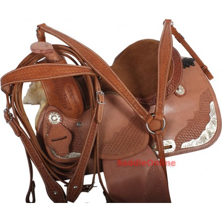 Natural Pony Western Show Saddle Tack 12