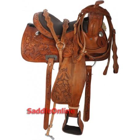 15 Western Tooled Unique Horse Saddle Headstall