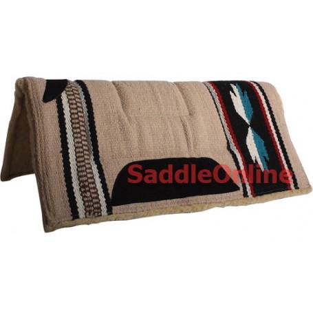 Premium Brown Fleece Lined Western Saddle Pad