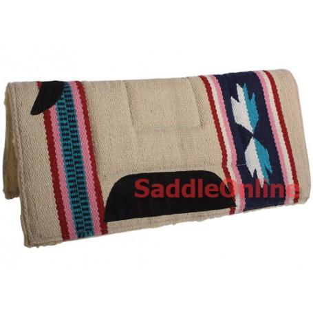 Premium Brown Fleece Lined Western Saddle Pad Suede