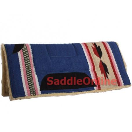 Premium Blue Fleece Lined Western Saddle Pad Suede