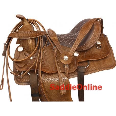 Premium Western Pleasure Trail Horse Saddle 15 16 17 18