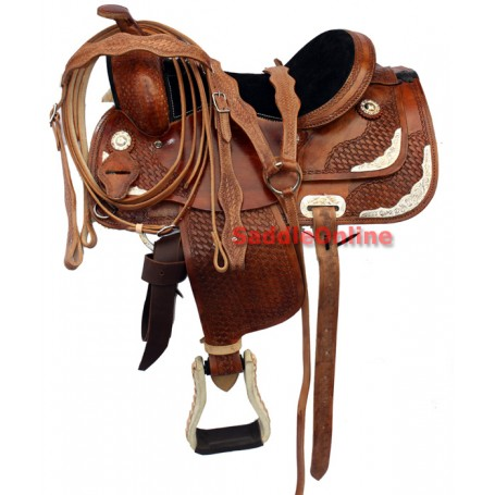 13 New Brown Western Pony Show Saddle Tack Seat