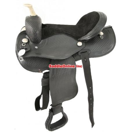 Brand new 16 RAWHIDE DECORATED western saddle.