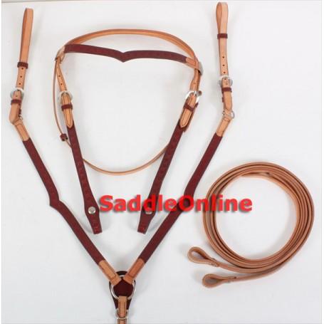 Ecnomical Headstall Reins Breast Collar Tack Set