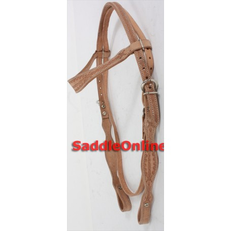 New Hand Tooled Western Headstall