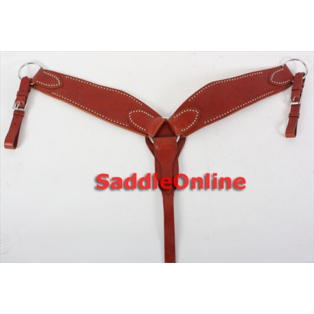Heavy Duty Full Tooled Breast Collar