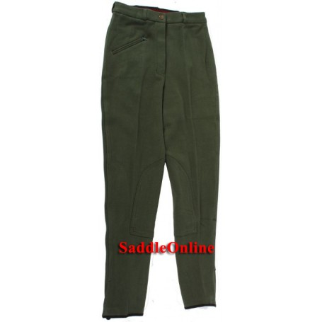 New 22-34 Green Cool Cotton Riding Breeches / Pants