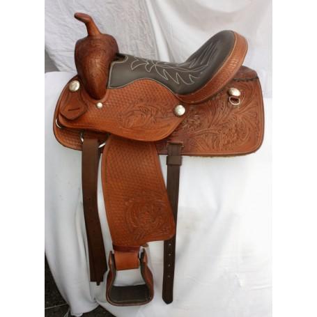 Limited Editon Tooled Western Trail Leather Saddle