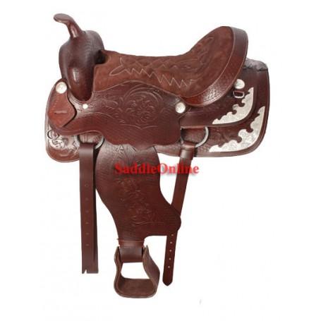 Western Leather Horse Show Saddle Set 16 17 18