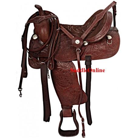 Comfortable Western Pleasure Trail Horse Saddle 18