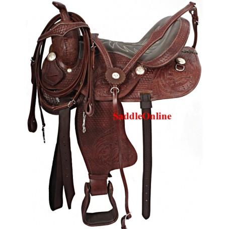 Comfortable Western Pleasure Trail Horse Saddle 17