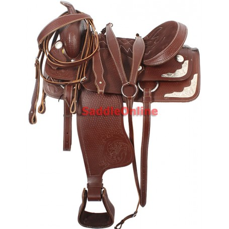 Hand Tooled Western Show Saddle Tack Package 17