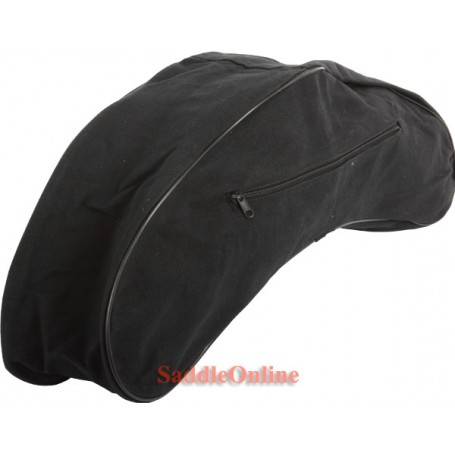 Western Canvas Black Cantle Saddle Bag