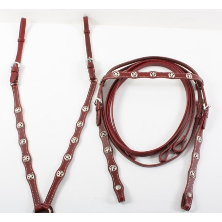 New Headstall Reins Breast Collar Horse Size Tack Set