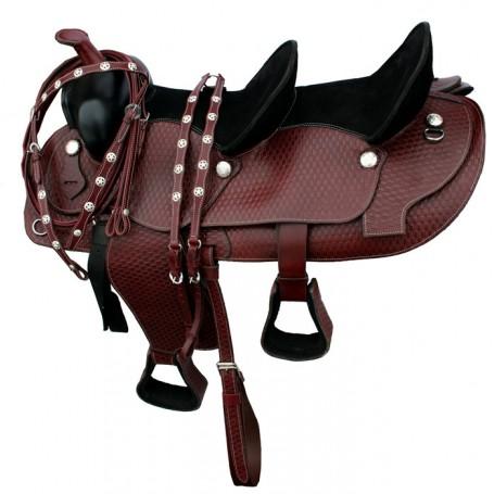 New Double Seat Saddle Double Stirrups 15 10