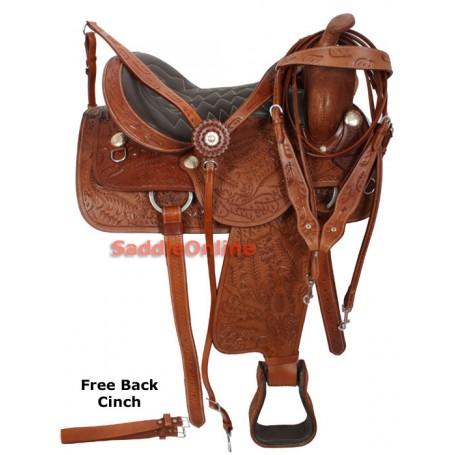 Western Trail Horse Pleasure Saddle Headstall 15-18