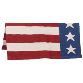 New Western US American Flag Wool Show Blanket