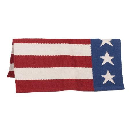 New Western US American Flag Wool Show Blanket