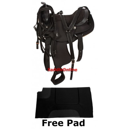 Western Synthetic Gaited Horse Saddle Tack Pad 17 18