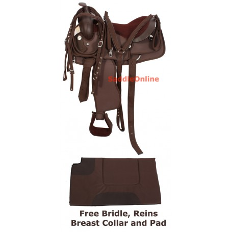Premium Synthetic Horse Saddle Tack Pad 15 16 17 18