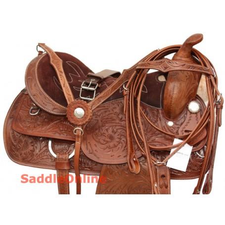 Wide QH Western Trail Pleasure Saddle 15