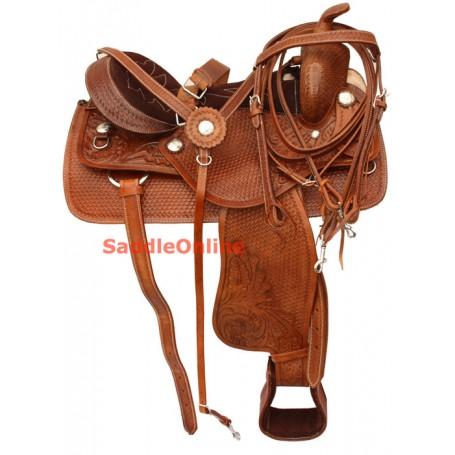 Premium Western Trail Horse QH Saddle 15 16 17 18
