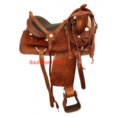 Premium Western Trail Horse QH Saddle 15 18