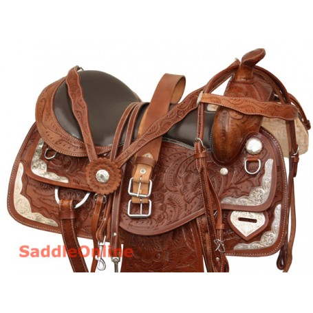 Premium Western Horse Show Saddle Tack Set 16 17