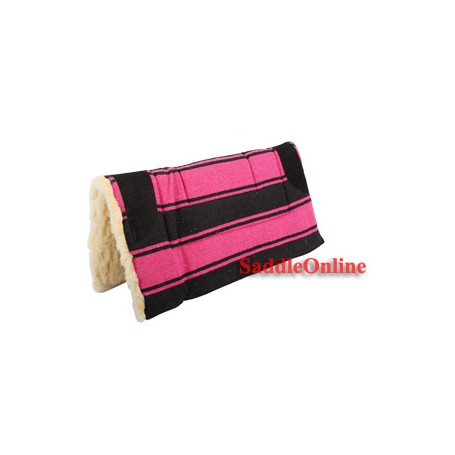 Premium Pink Fleece Lined Western Saddle Pad Suede