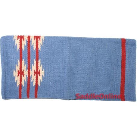 Blue Wool Show Cutting Cowboy Saddle Blanket