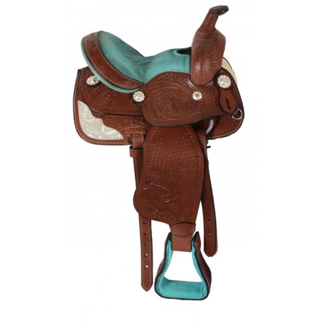 Miniature Horse Youth Leather Kids Show Saddle 10
