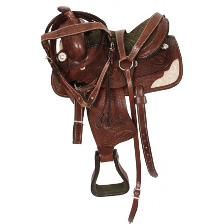 12 Youth Pony Show Hand Carved Western Saddle