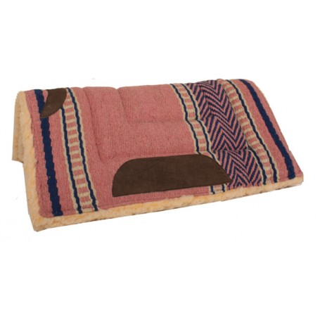 Premium Pink Fleece Lined Heavy Saddle Pad