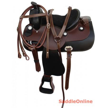 Youth Pony Western Leather Pleasure Trail Saddle 12