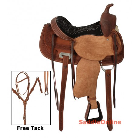 Rough Out Western Barrel Racing Horse Saddle 13