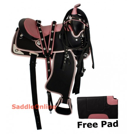 Youth Pony Pink Western Synthetic Saddle Tack Pad 12-13