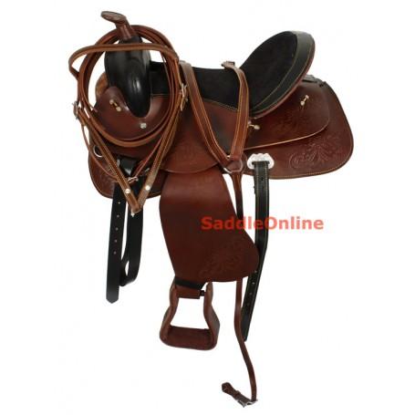 Pleasure Trail Western Horse Saddle Tack Brown 15