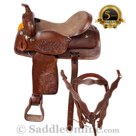 Comfortable Western Horse Trail Saddle Tack Set 15