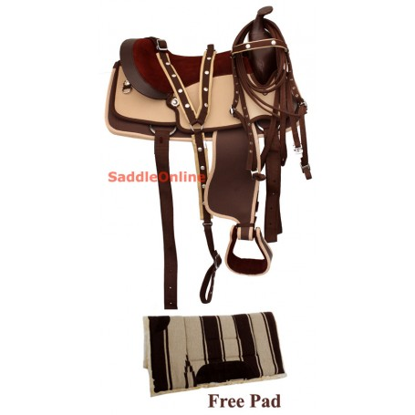 Brown Horse Western Trail Horse Saddle Tack Pad 17