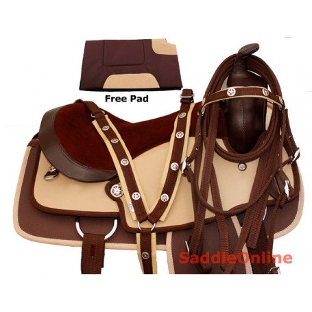 Quarter Horse Western Trail Synthetic Saddle Pad 14-18