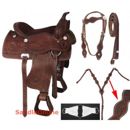 Western Pleasure Trail Youth Horse Saddle 12 13