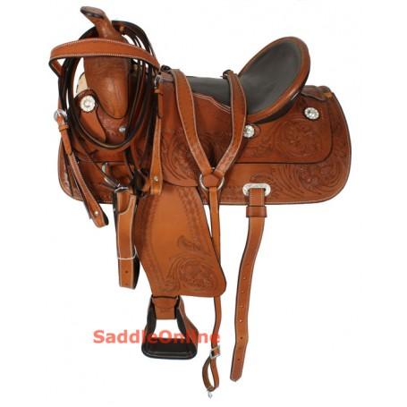 Bowman Tree Western Ranch Work Saddle Tack Set 16