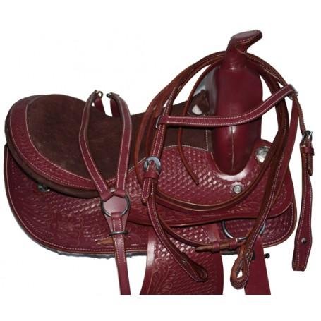 New Western Pony Leather Saddle Tack Set 12