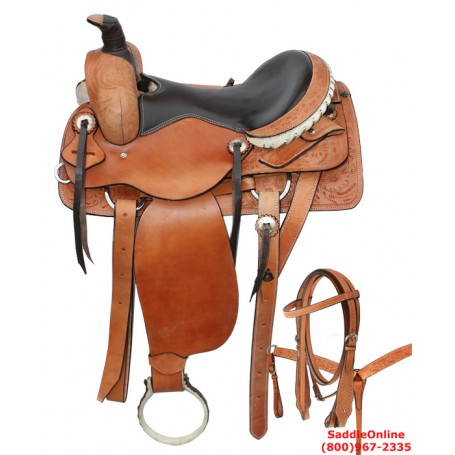 17 18 Western Pleasure Ranch Work Saddle Leather Tack