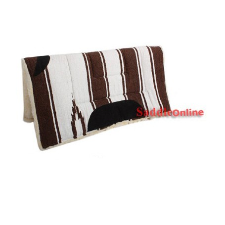 Premium Brown Fleece Lined Western Saddle Pad Suede