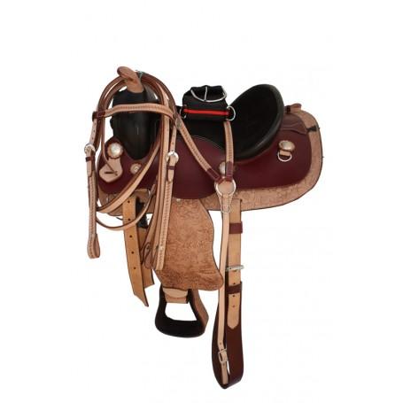 Youth Pony Western Leather Saddle 10 12 13