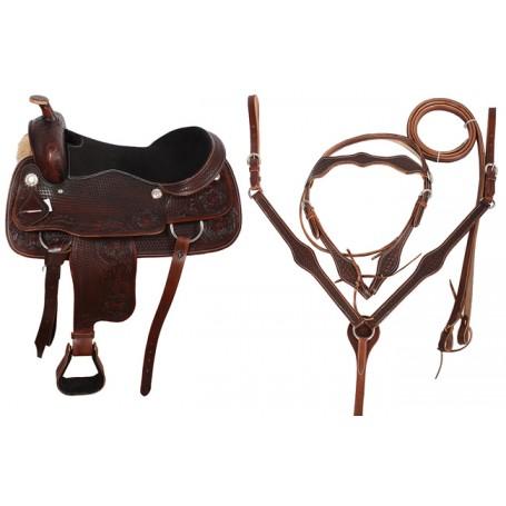 Premium Tooled Western Pleasure Saddle 18