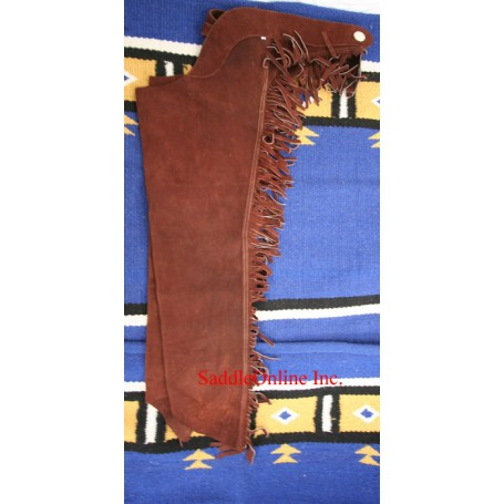 Brown LEATHER Suede WESTERN SHOW CHAPS NEW