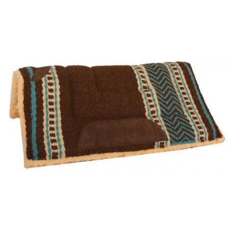 Premium Brown Fleece Lined Heavy Saddle Pad